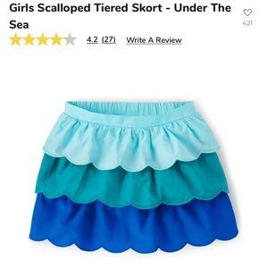 Baby girls 👧 Gymboree scalloped tiered skirt.